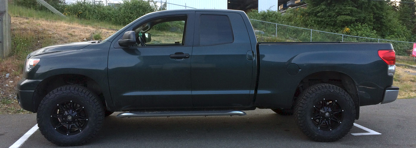 Another clients truck that was repaired waiting to be picked up